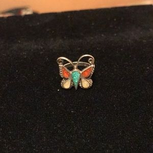 Jewelry - Turquoise and Coral Ring